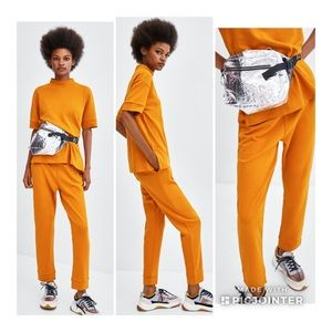 Zara Trafaluc Jogger Trousers Mustard